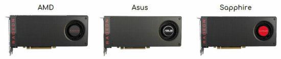 Примеры референсных видеокарт от AMD