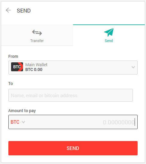 форма отправки денег